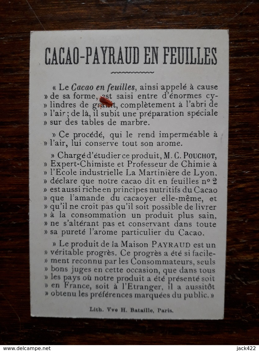 L16/76 Chromo. Cacao Payraud - Chocolate