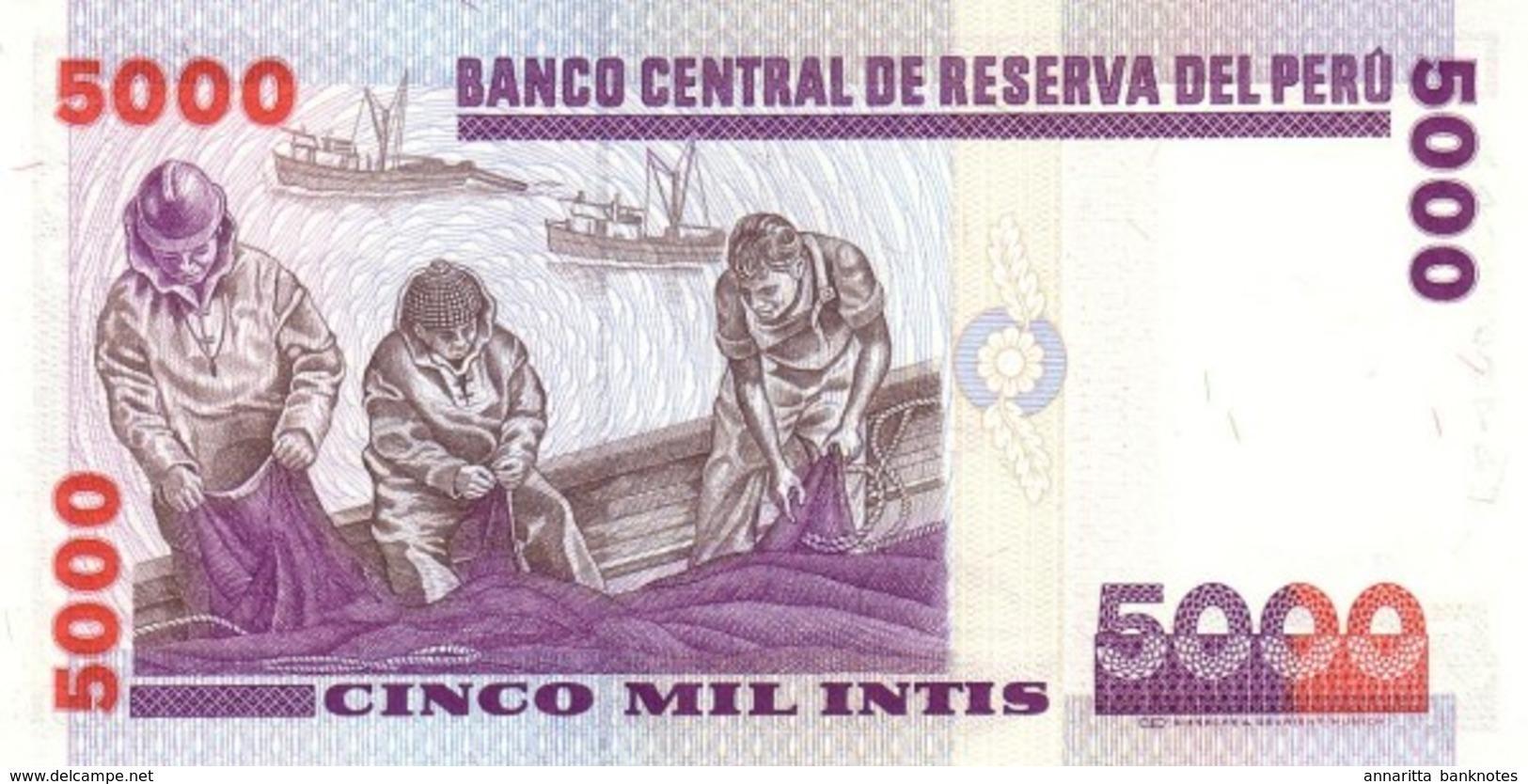 PÉROU 5000 INTIS 1988 P-137 NEUF  [PE137] - Pérou