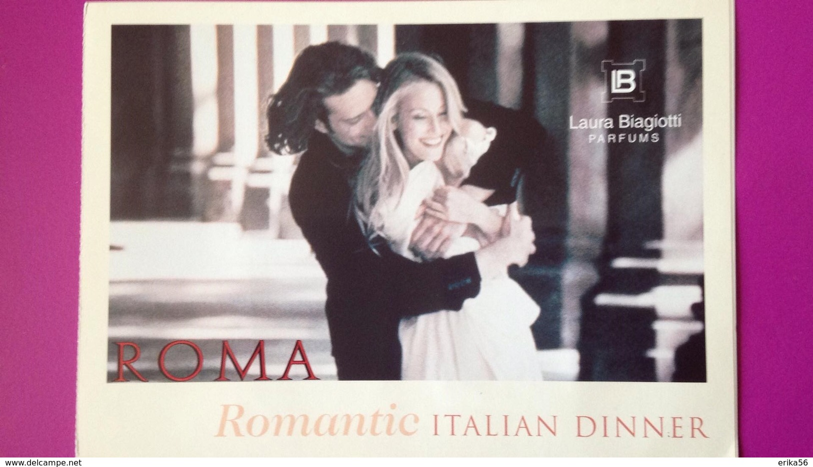 ROMA  UOMO + DONNA  LAURA BIAGIOTTI - Perfume Cards