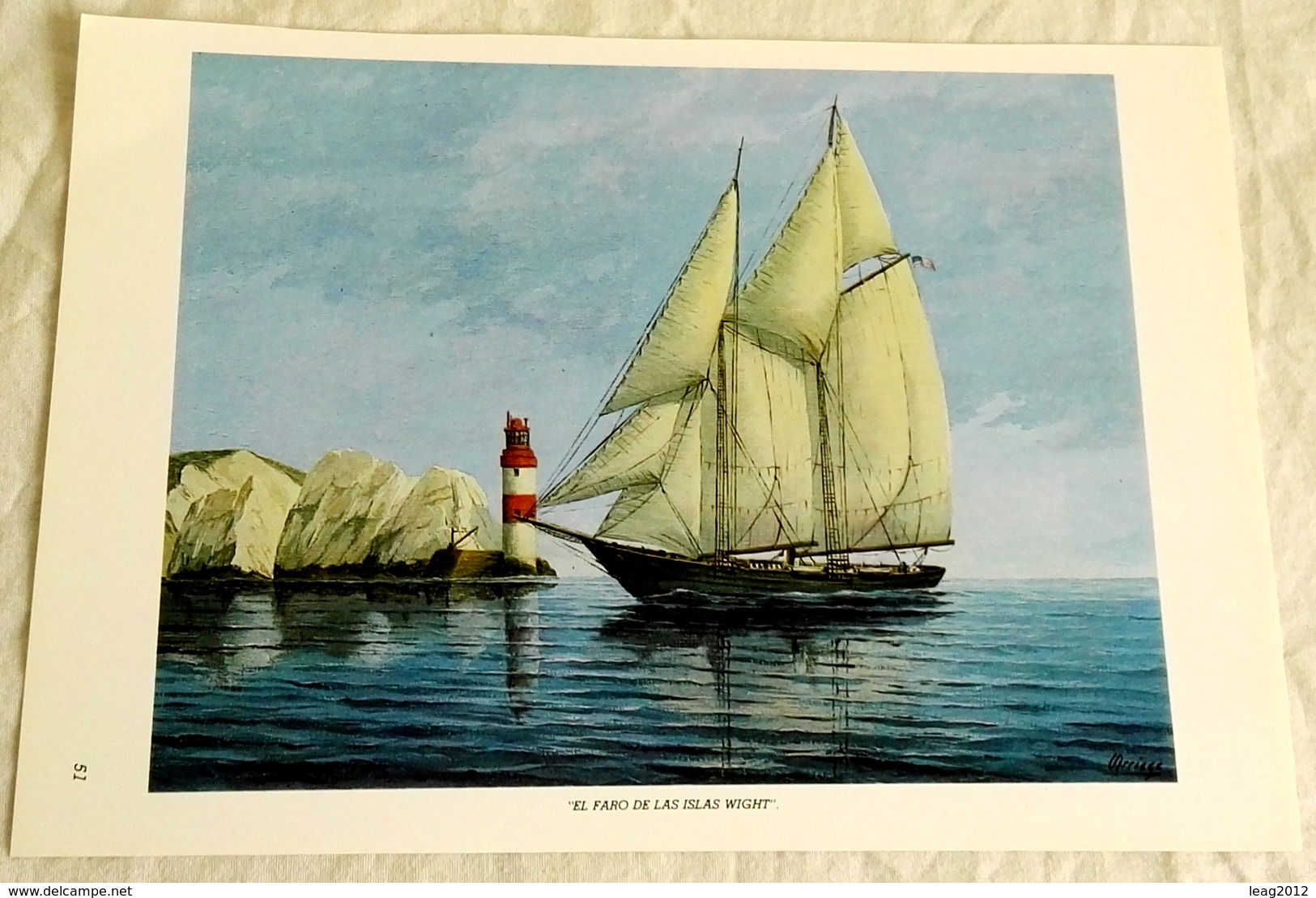 Sheet Taken From Book - Esteban Arriaga, The Lighthouse Of The Wight Islands / 1986 - Arte