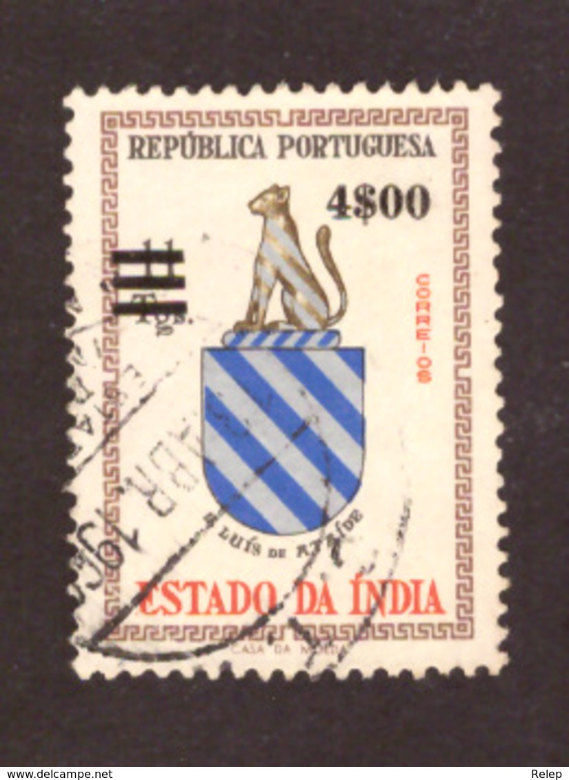 Inde Portugaise  1959 - Brasões E Armas  Sobrecarga 4$00 S/ 11 T - Inde Portugaise