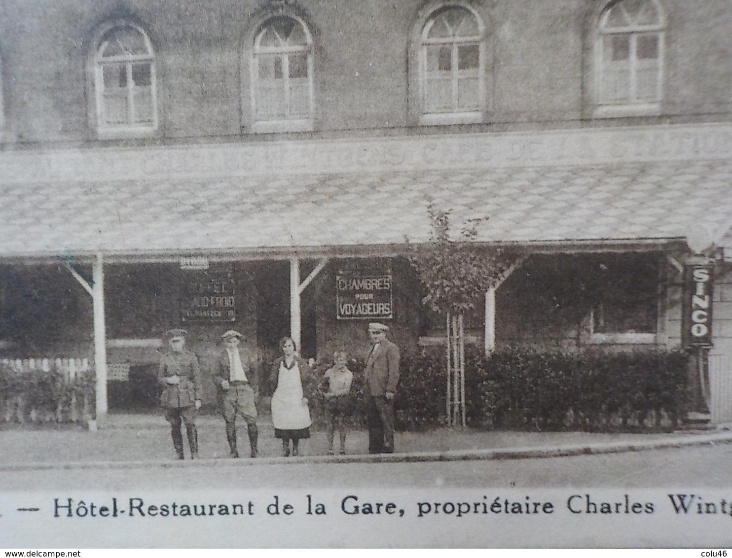 1920 CP Plombières Hôtel Restaurant De La Gare Propriétaire CH. Wintgens  Montzen - Plombières