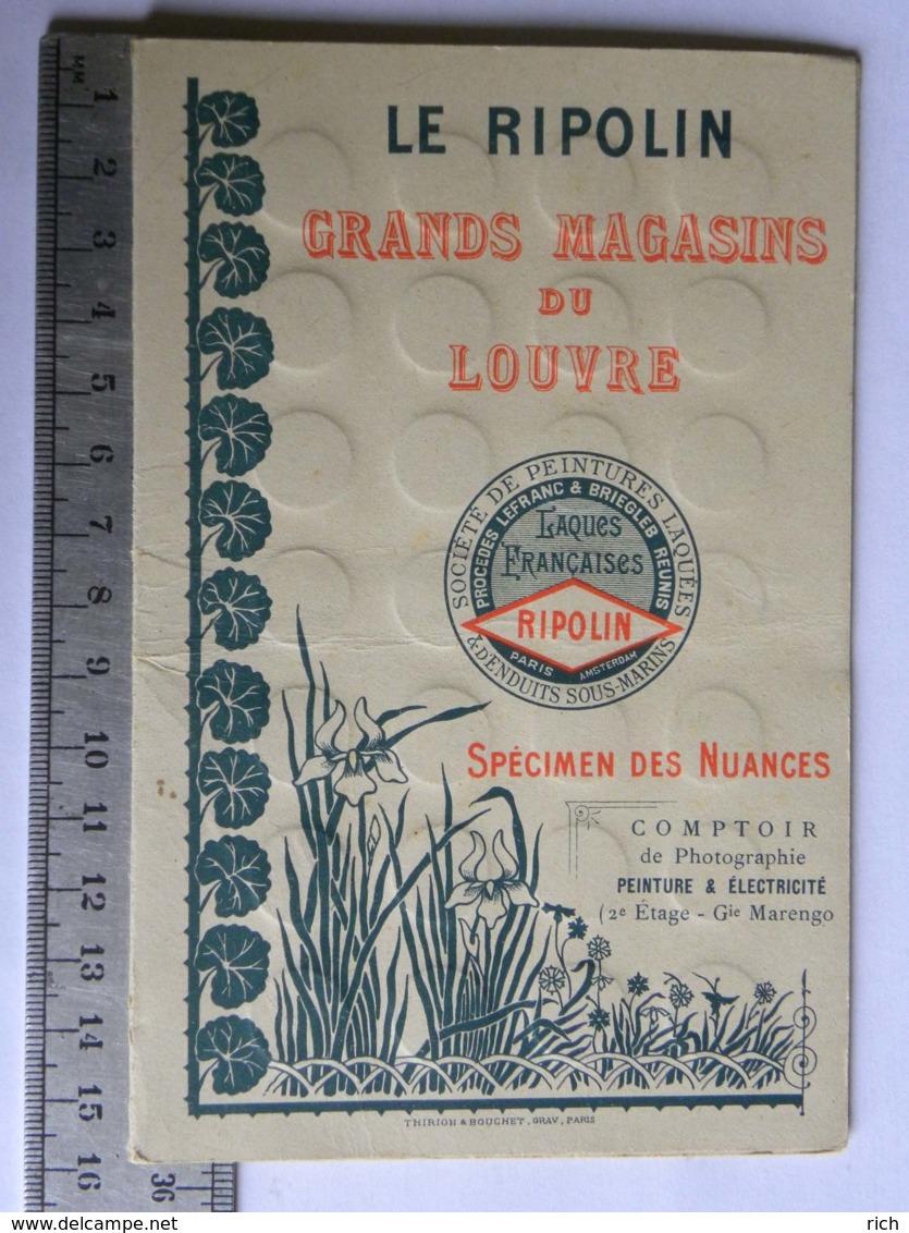 """Le Ripolin """"Grands Magasins Du Louvre"""" Spécimen Des Nuances"""" Nuancier - Dépliant Couleurs Peintures Laquées - Paris - Advertising"""