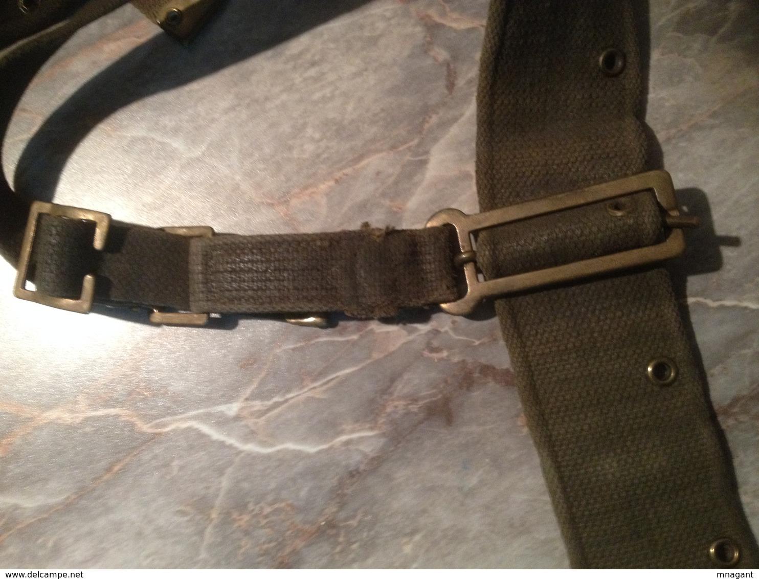 Brelage/ceinturon GB  De WW2 Modifié Et Reutilisé En Indochine - Equipement