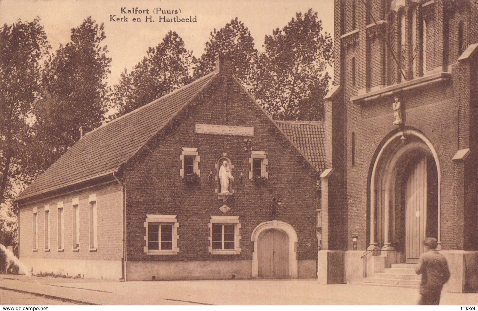 Kalfort ( Puurs ) Kerk En H. Hartbeeld - Puurs