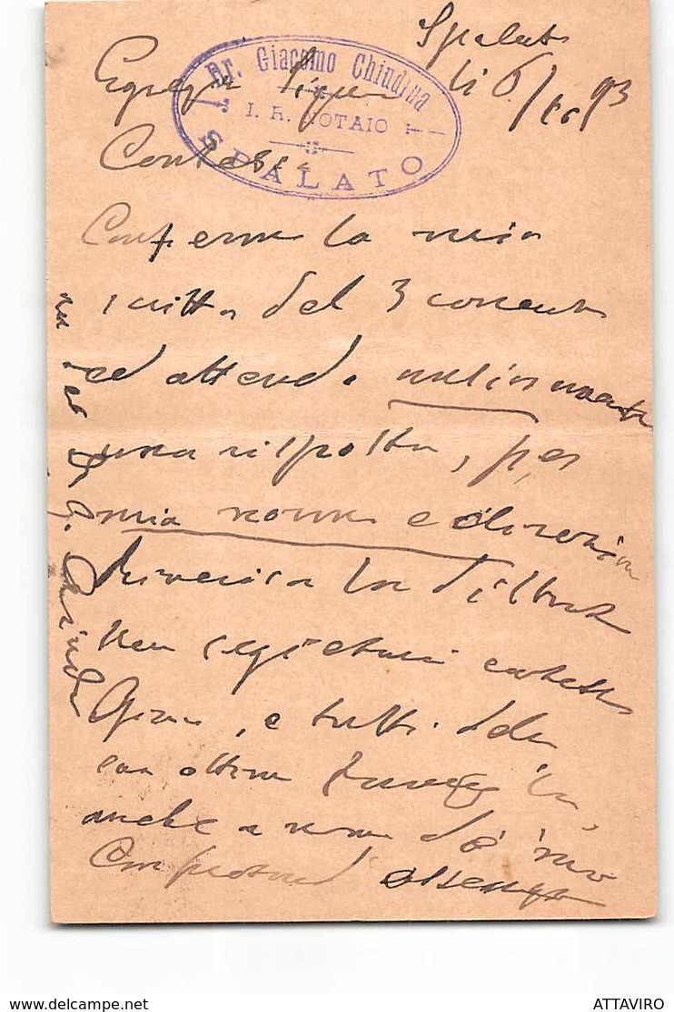 17313 SPLJET SPALATO TO ZADAR ZARA - Interi Postali