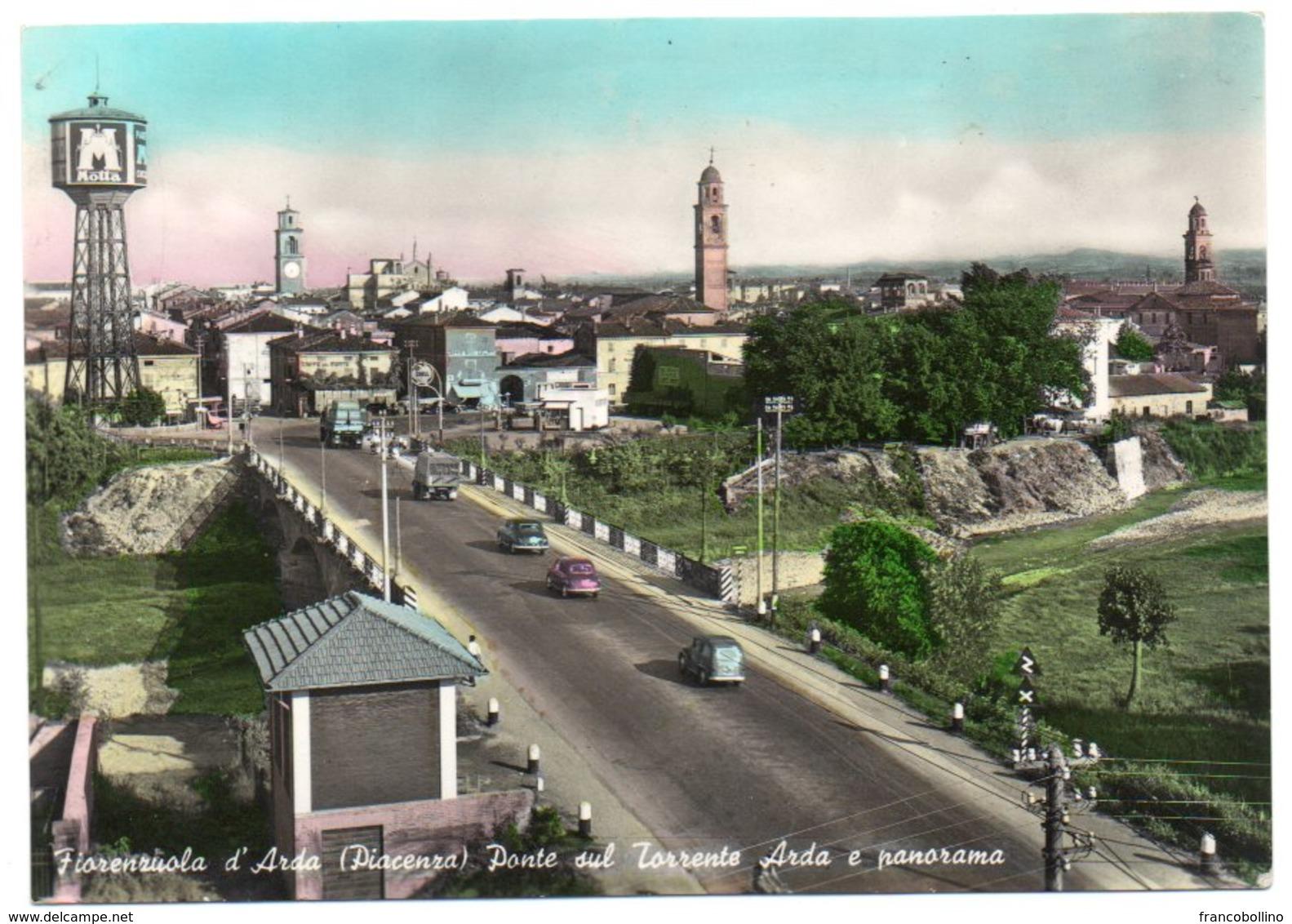 FIORENZUOLA D'ARDA (PIACENZA) - PONTE SUL TORRENTE ARDA E PANORAMA - Piacenza