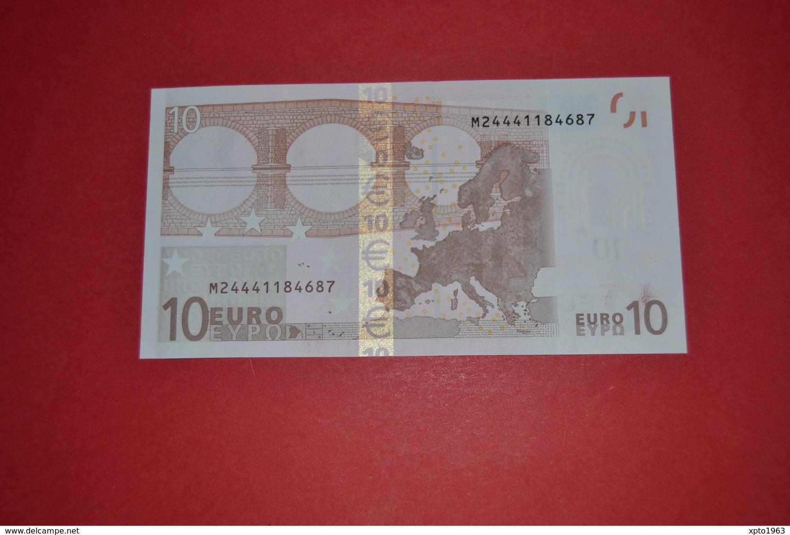 10 EURO PORTUGAL U007B3 - Serial Number  M24441184687 - Perfect UNC - EURO