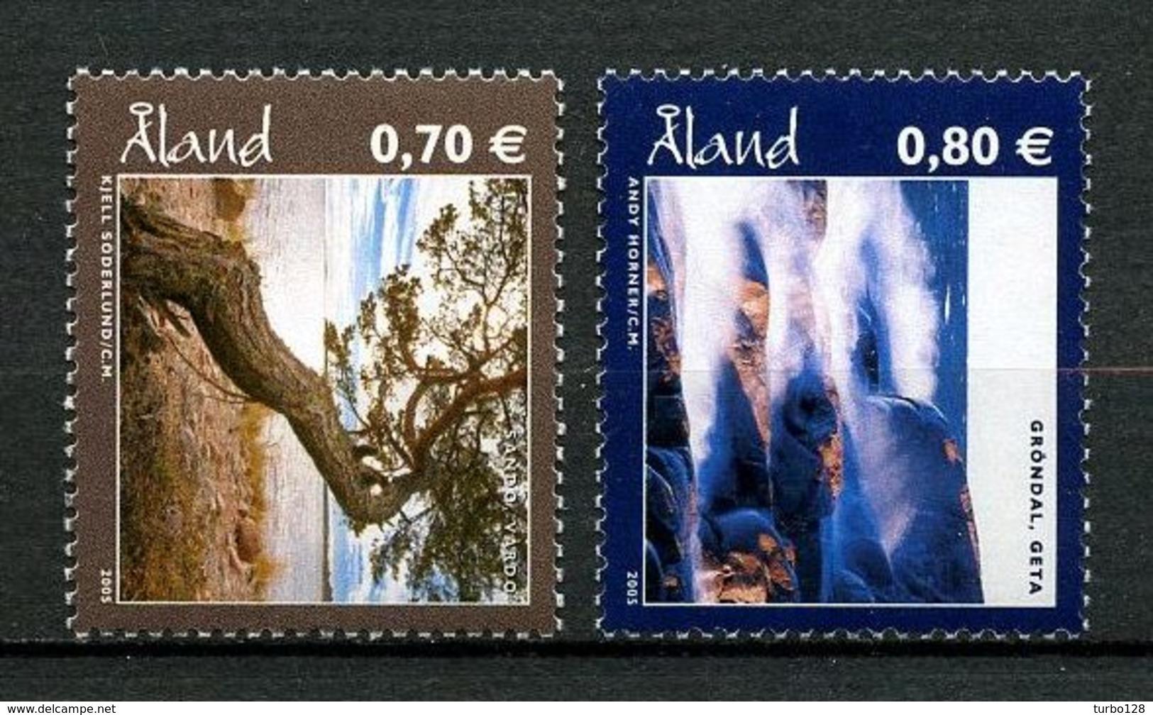 ALAND 2005  N° 256 /257 **  Neufs MNH Superbes Paysages Alandais Landscapes Arbres Trees - Aland