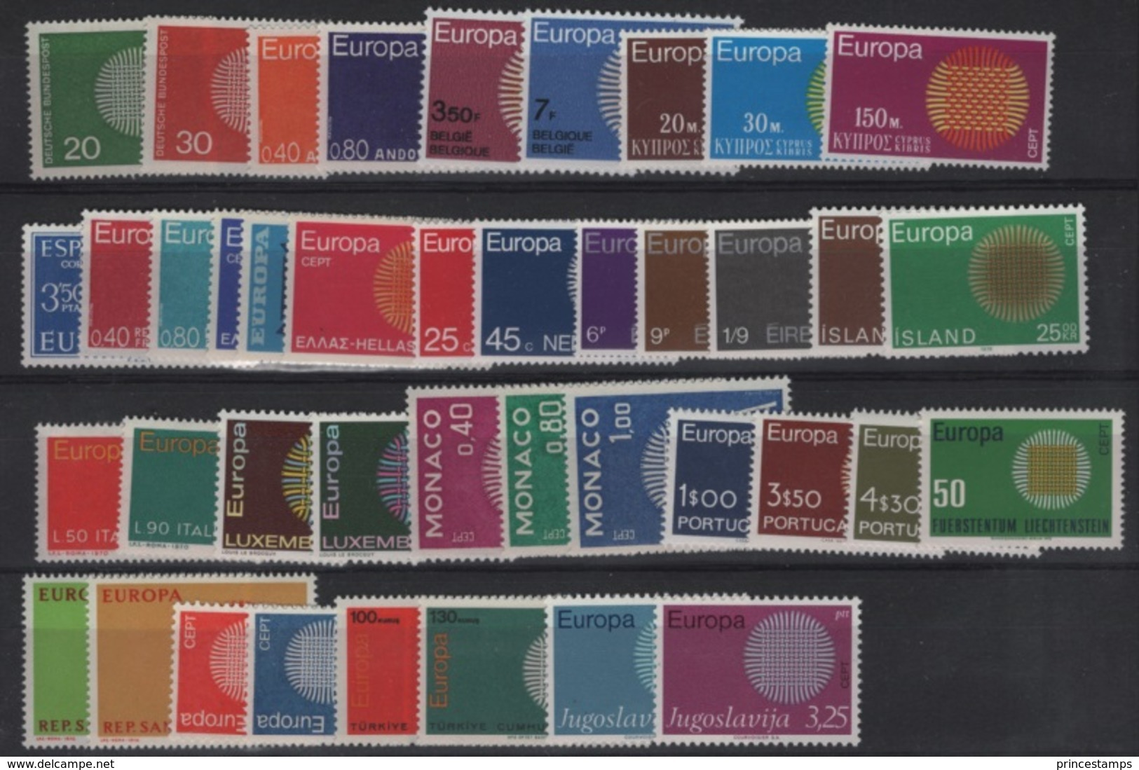 Europa - Europe CEPT (1970 Complet) / Nice - MNH - 1970