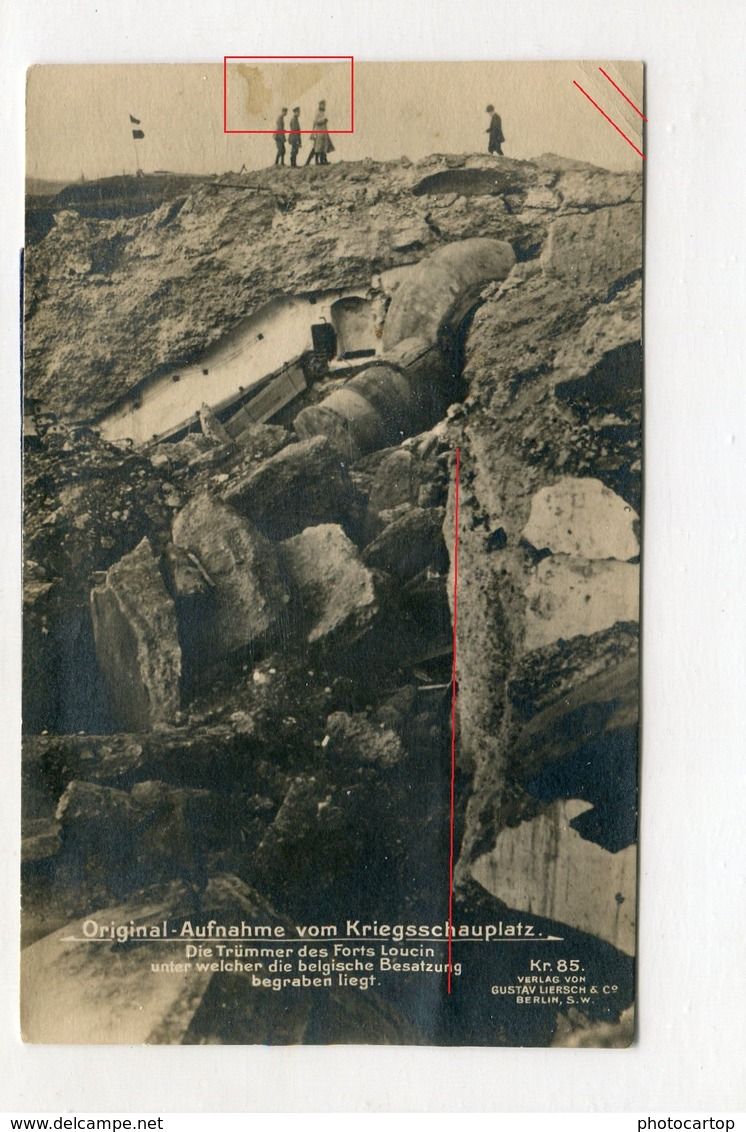 Fort LONCIN-TICKET All.d'Entree Pour VISITE-1918-CARTE PHOTO Allemande-Guerre 14-18-1WK-Militaria-Belgique- - Liege