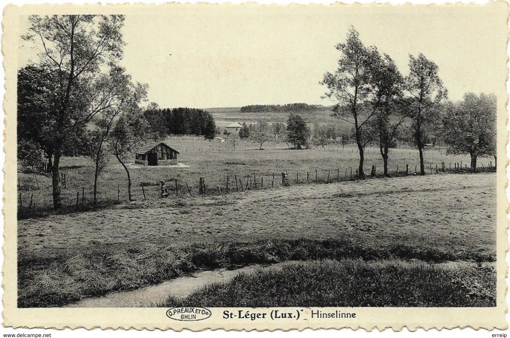 Saint Léger (lux) Hinseline (En Face De La Croix Des Fusillés. Al'arrière Plan La Maison De La Proprièté D'Hinseline) - Saint-Léger