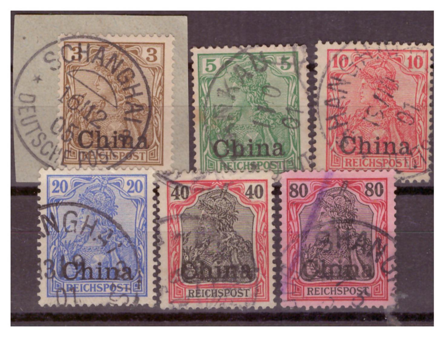 China,  Nr. 15-18, 21, 23, Gest. - Bureau: Chine