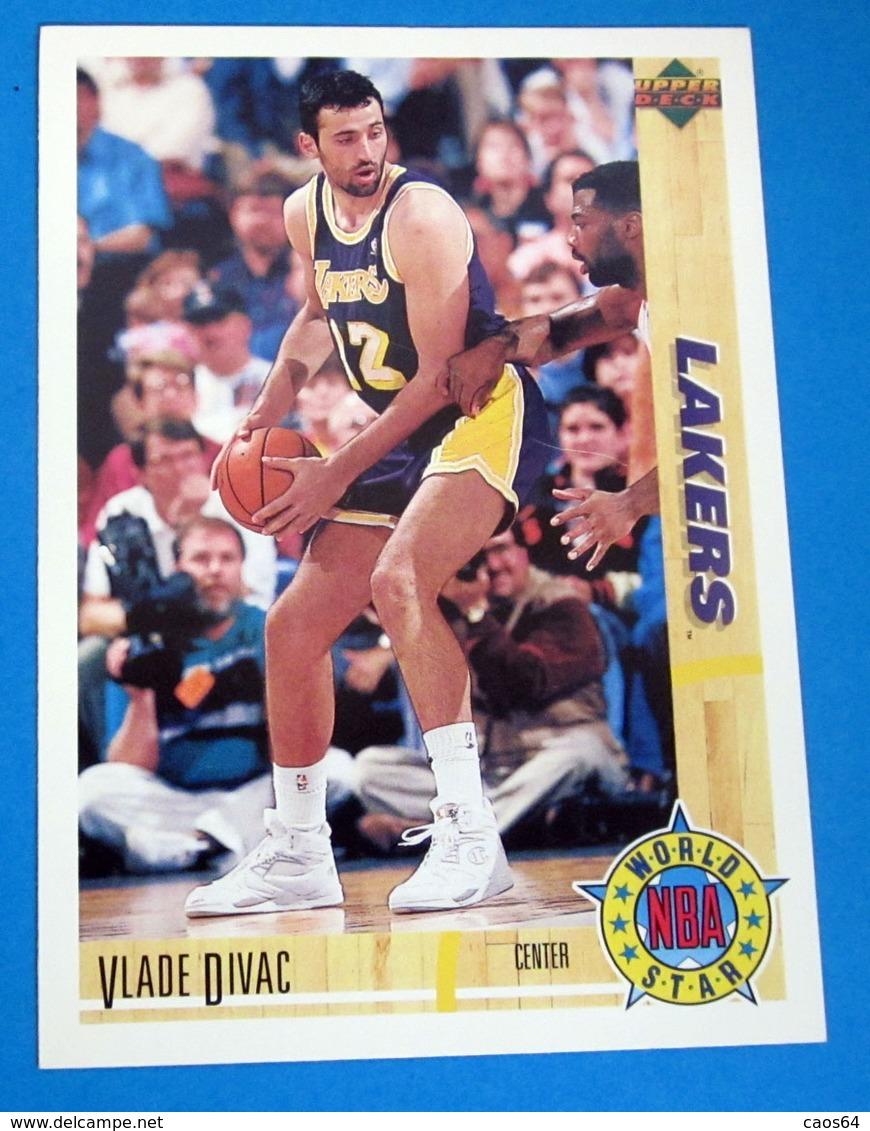 VLADE DIVAC   CARDS NBA FLEER 1992 N 186 - Trading Cards