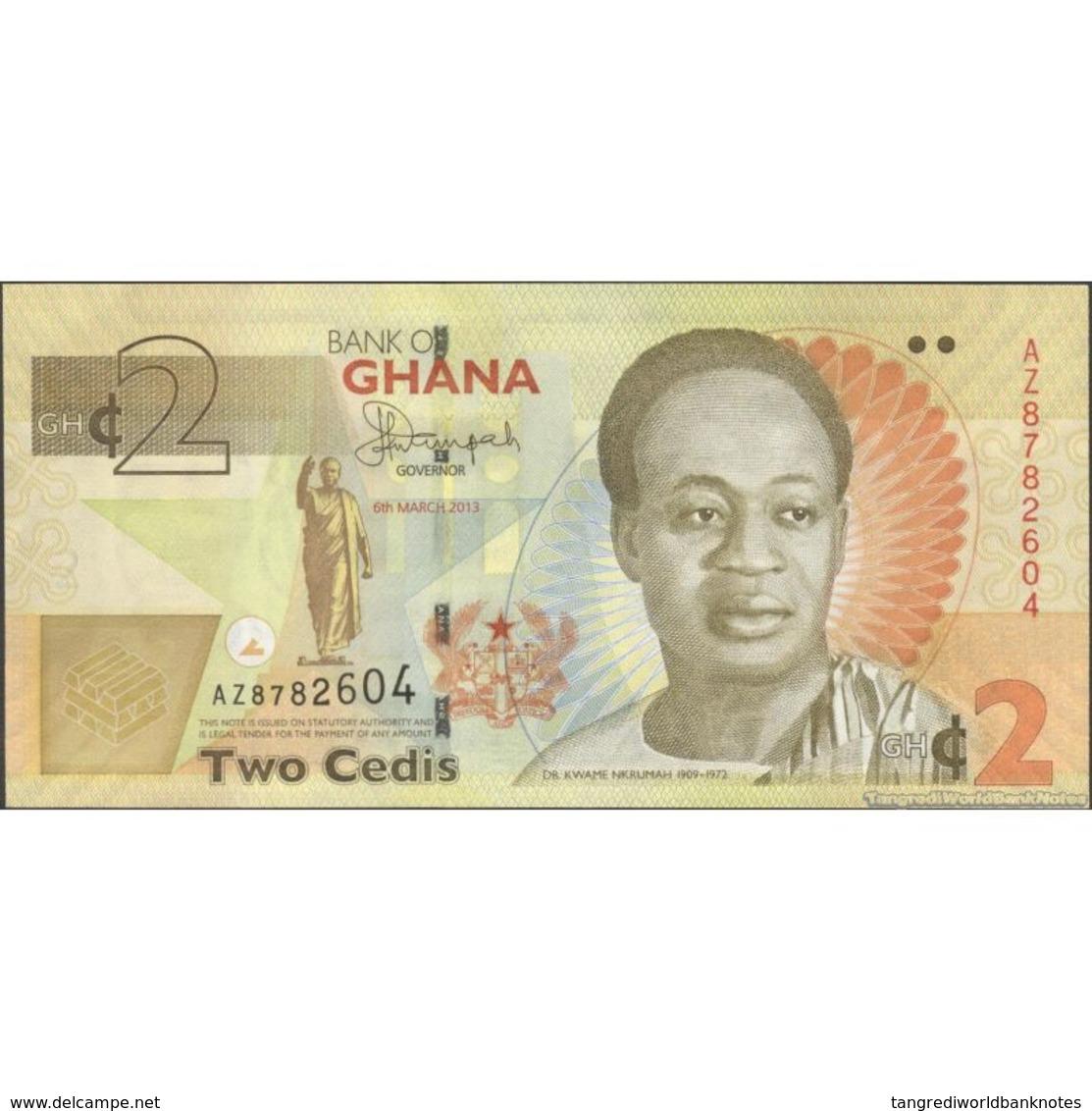 TWN - GHANA 37Ab - 2 Cedis 6.3.2013 Prefix AZ AU - Ghana