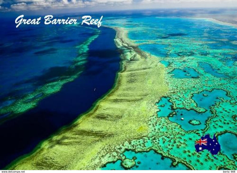 Great Barrier Reef Aerial View UNESCO Australia New Postcard - Great Barrier Reef