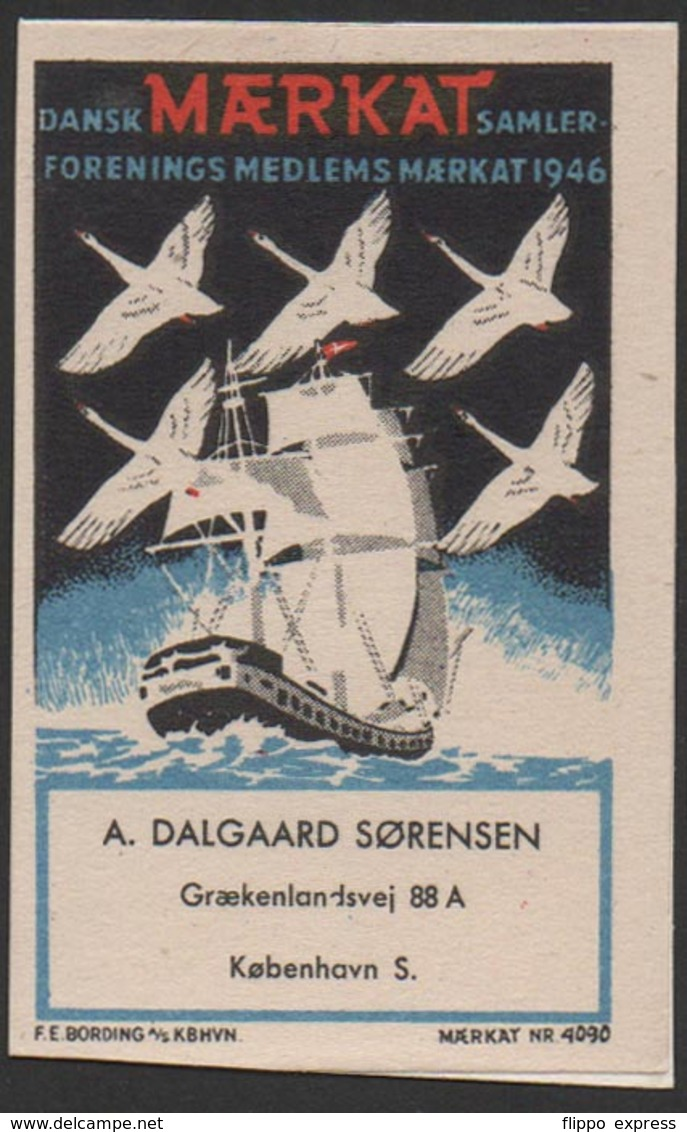 Denmark, Poster Stamp, Maerkat Nr. 4090, Mounted! - Local Post Stamps