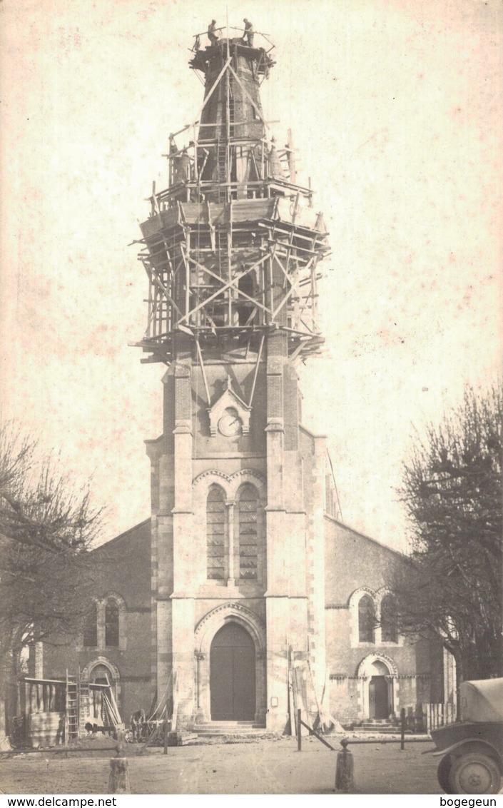 45 Restauration Du Clocher Foudroyé De L'Eglise De TIGY - France