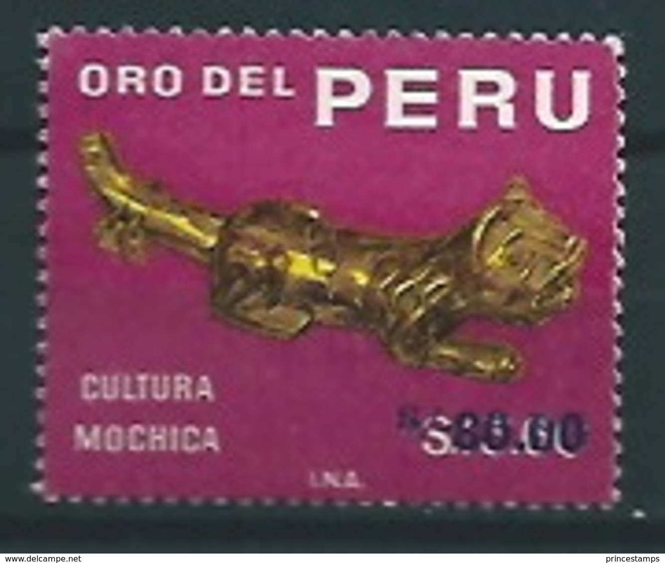 Peru - Perou (1978) Yv. 633F  /  Archeology - Art - Gold - Culture - Heritage - Porselein