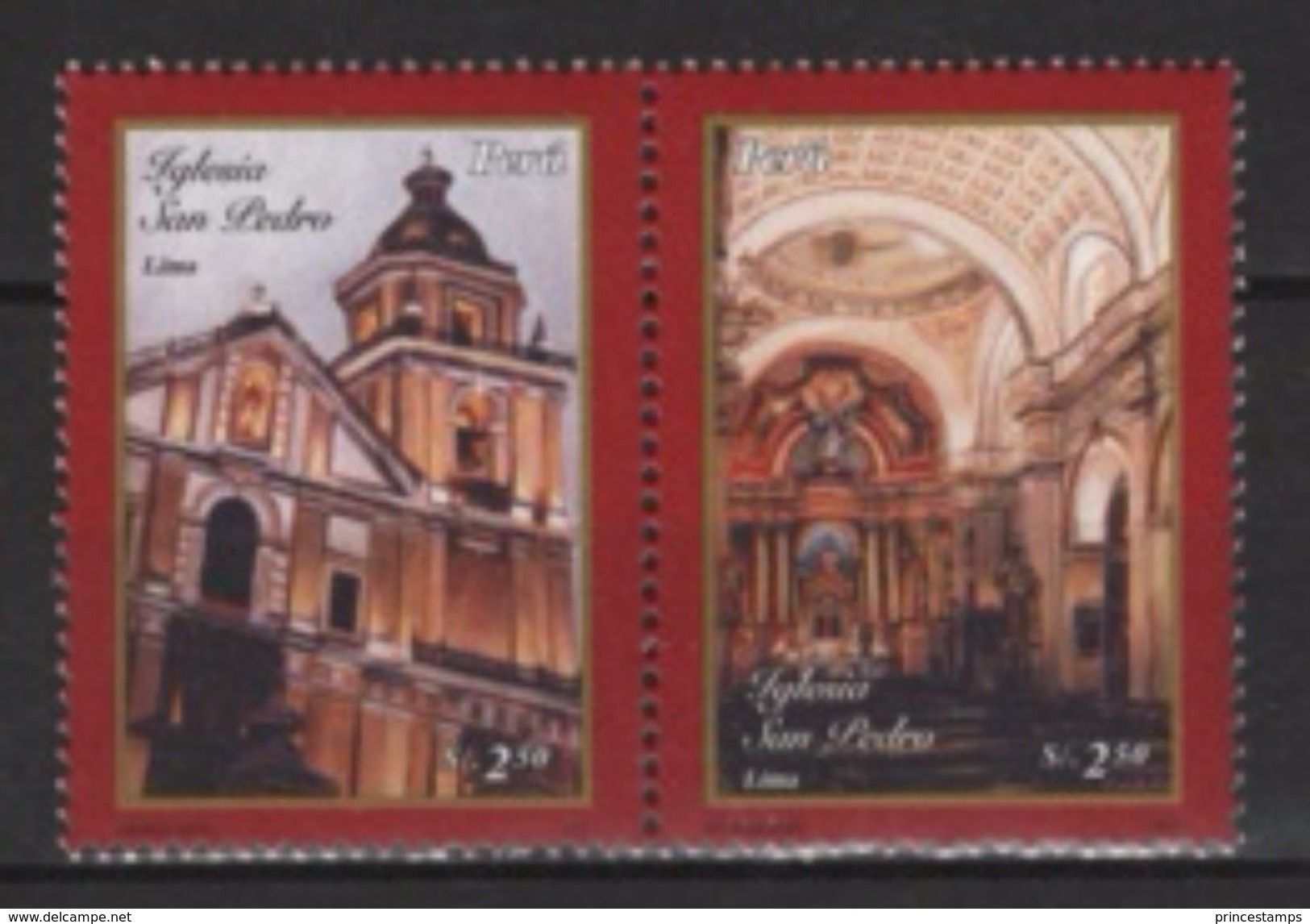 Peru (2006) Yv. 1522/23  /  Heritage - Church - Iglesia - Eglise - Kerken En Kathedralen