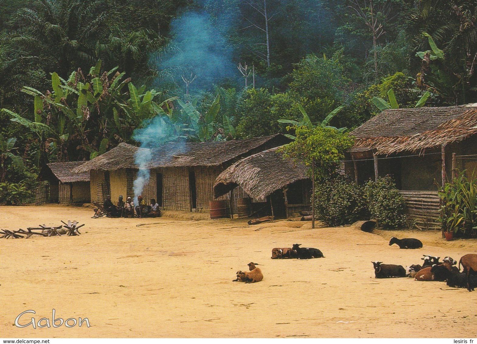 CP - PHOTO - LE GABON EN TROPICOLOR - SCENE DE VILLAGE AU COEUR DU MASSIF DU CHAILLU - EN RAISON DE SON ACCES DIFFICILE - Gabón