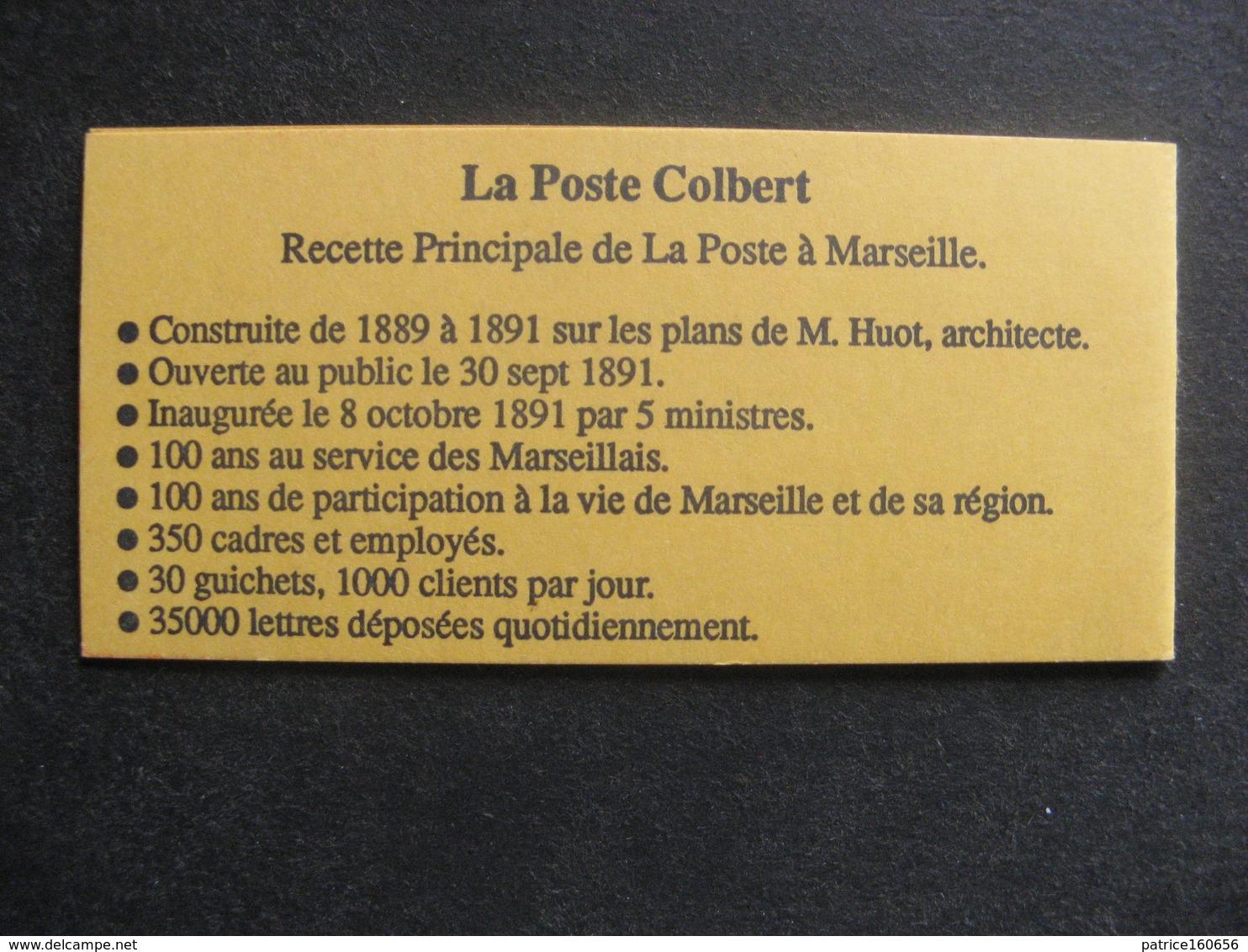 RARE Et TB Carnet N° 2712 - CP1: M De Marseille Sans Trait Parasite,  Neuf XX. - Carnets