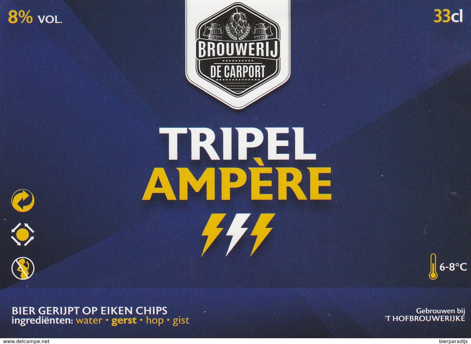 Brouwerij De Carport Tripel Ampere - Bière
