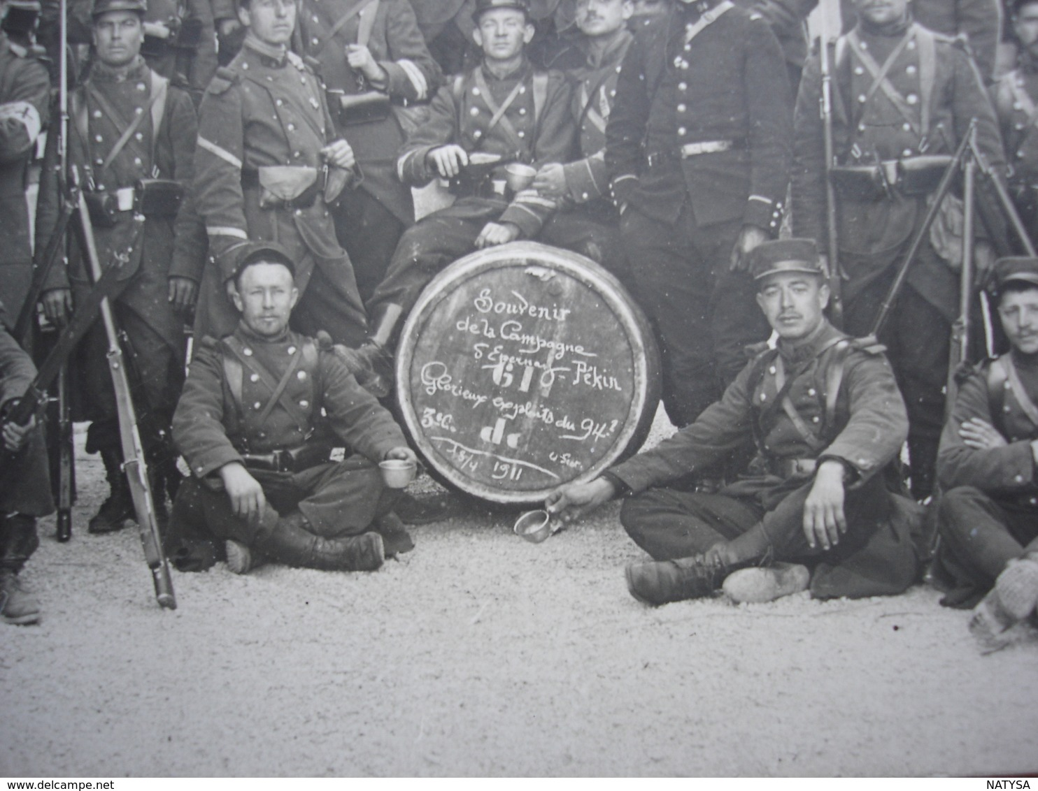 51 EPERNAY Repression De La Grève Des Vignerons De Champagne En 1911 Le 94 Eme RI Pose Après La Campagne Le15 Avril 1911 - Reggimenti