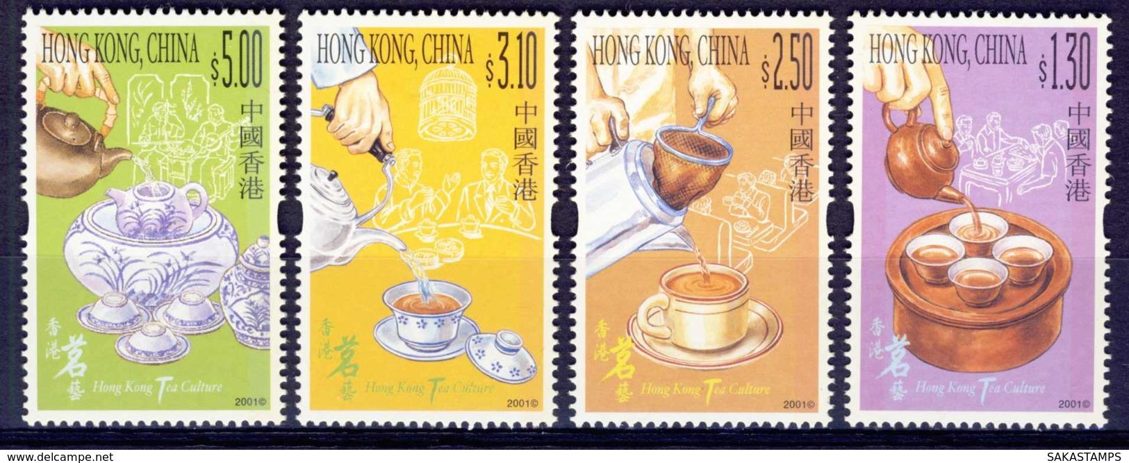 "2001-(MNH=**) Hong Kong China S.4v.""Tea Culture"" - 1997-... Regione Amministrativa Speciale Della Cina"