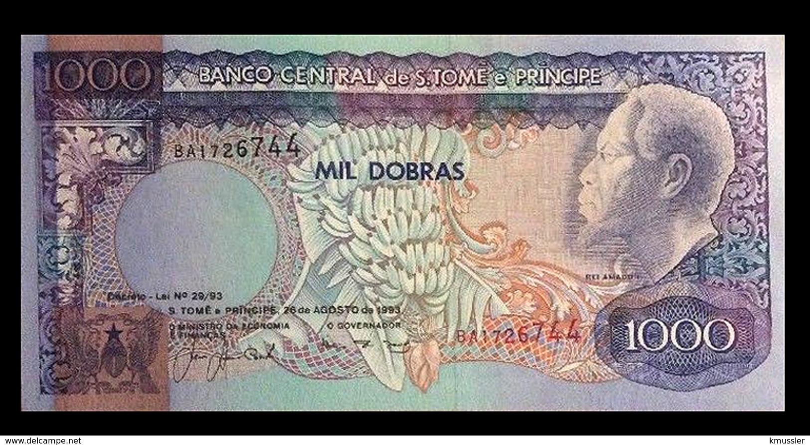 # # # Banknote Tome Und Principe 1.000 Dobras 1993 UNC # # # - São Tomé U. Príncipe
