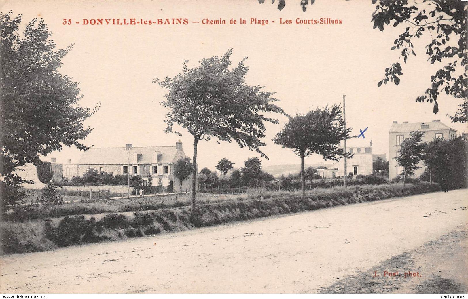 50 - Donville-les-Bains - Chemin De La Plage - Les Courts-Sillons - Autres Communes