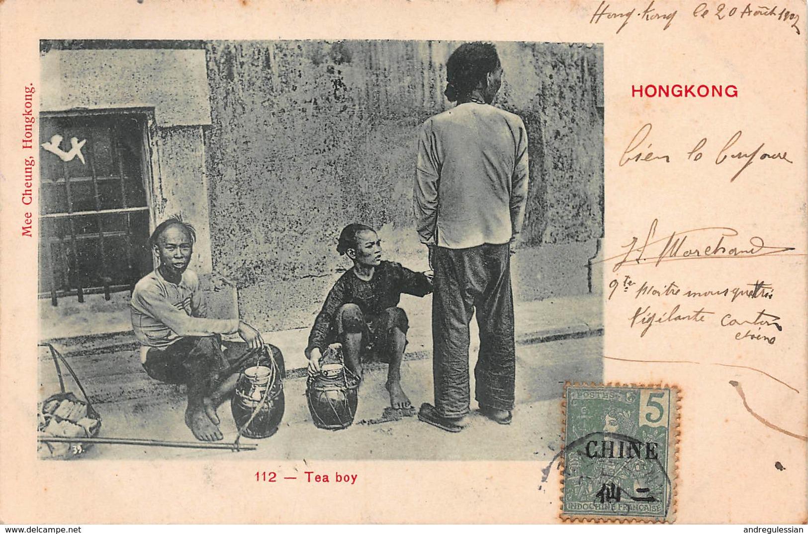 CPA 112 - Tea Boy - Hong Kong - Cachet Paquebot - China (Hong Kong)