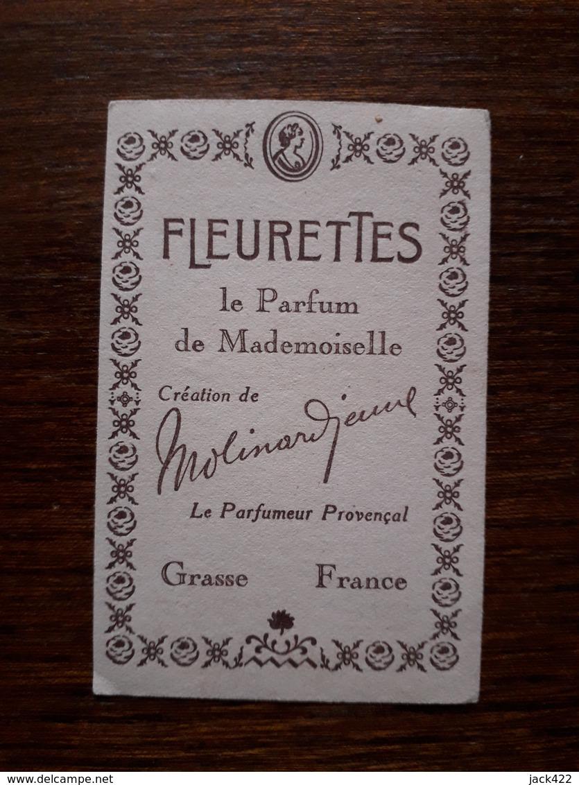 Petite Carte Publicitaire. Fleurettes. Le Parfum De Mademoiselle. Grasse. - Perfume & Beauty