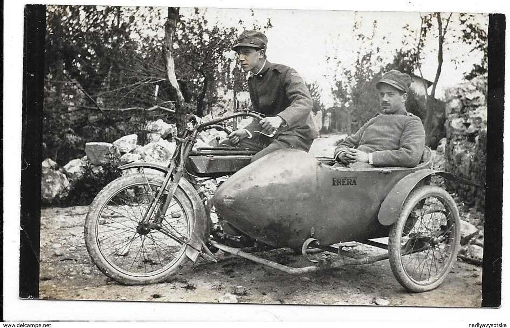 Fotografia - Militari Su Sidecar Moto Frera 27/4/1916. - Moto
