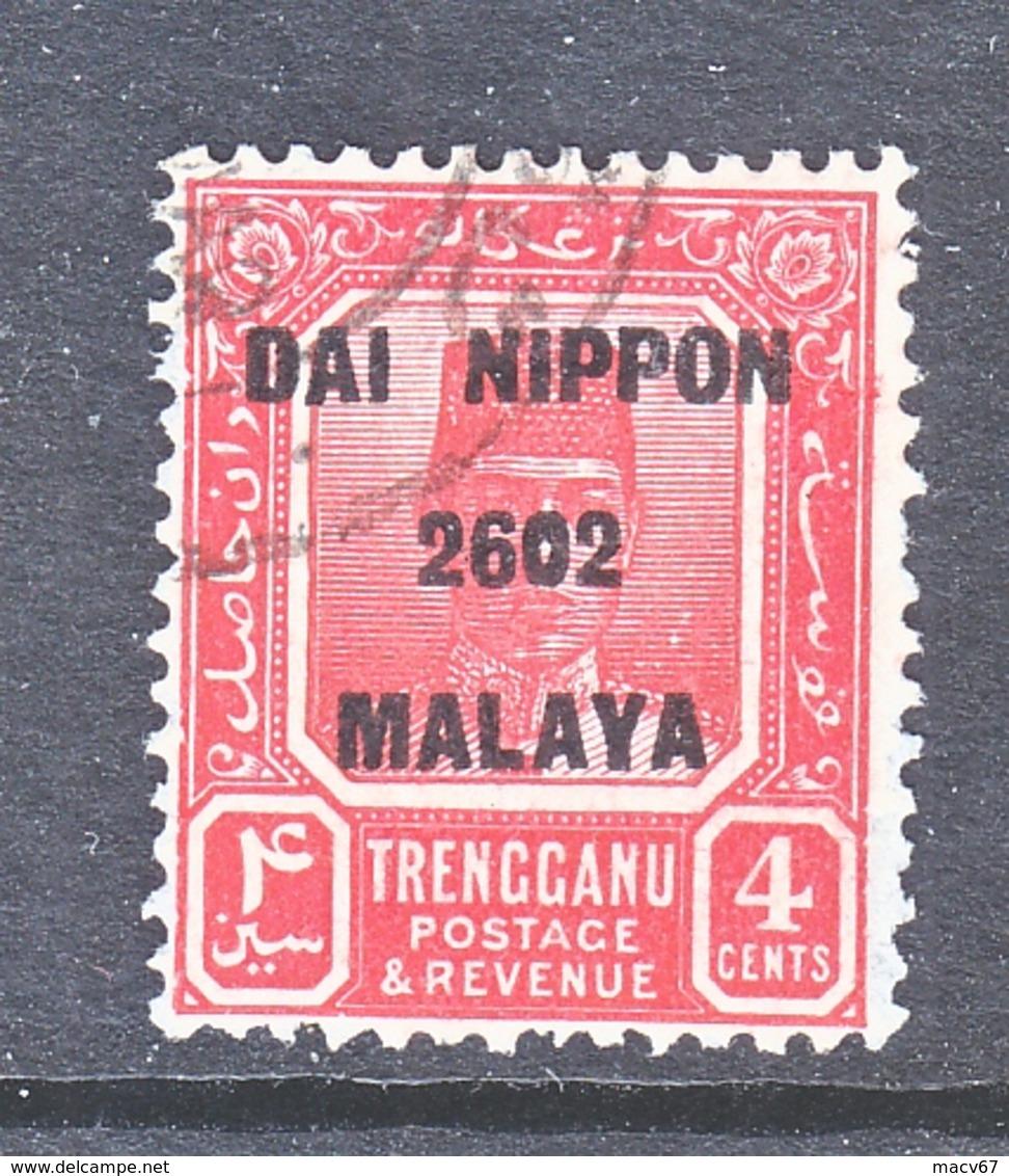 JAPANESE  OCCUP.  TRENGGANU   N 37   (o) - Grande-Bretagne (ex-colonies & Protectorats)