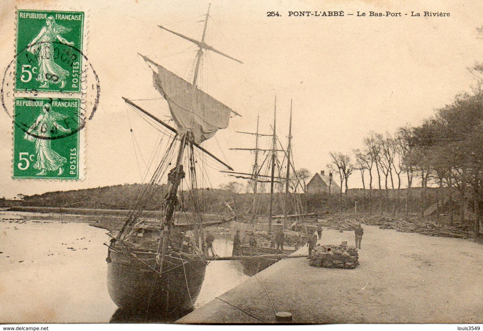 Pont  - L' Abbé -    Le  Bas  - Port La  Rivière. - Pont L'Abbe