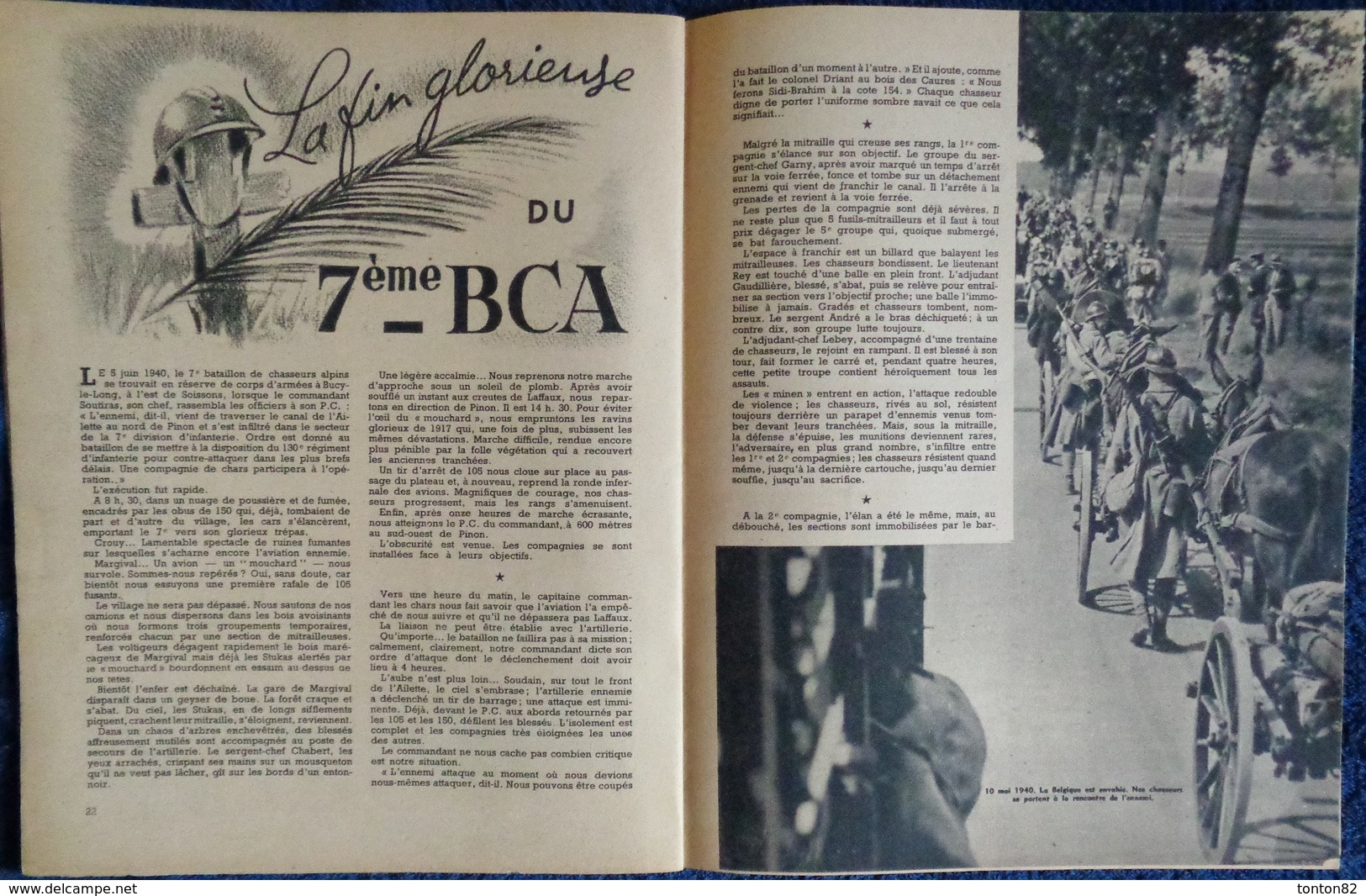 L'Armée Française Au Combat - Nos CHASSEURS - Édité Par Le Service D'Information Du Ministère Des Armées - (1945) . - Weltkrieg 1939-45