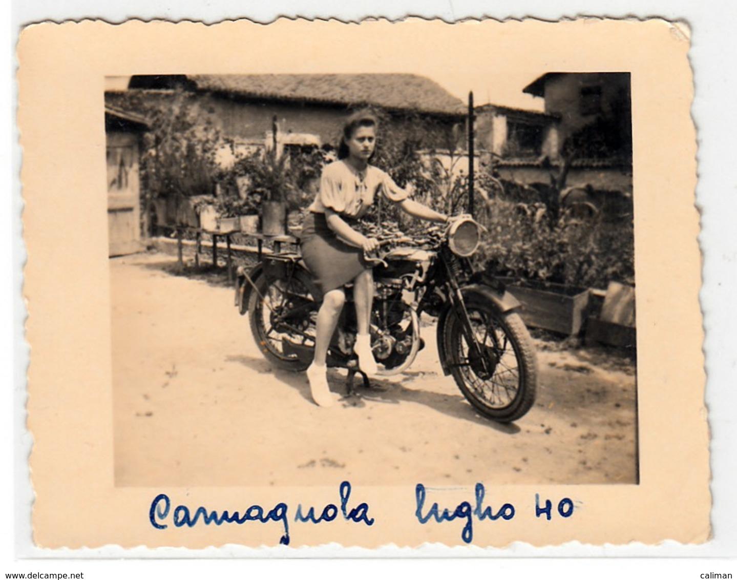 MOTO MOTORCYCLE NON IDENTIFICATA - FOTO ORIGINALE - Foto