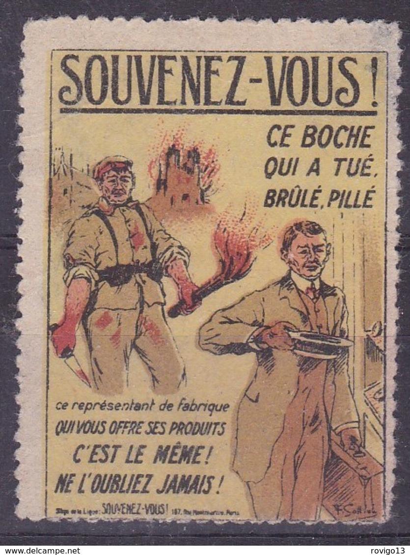 France, Vignettes - Souvenez Vous - Commemorative Labels