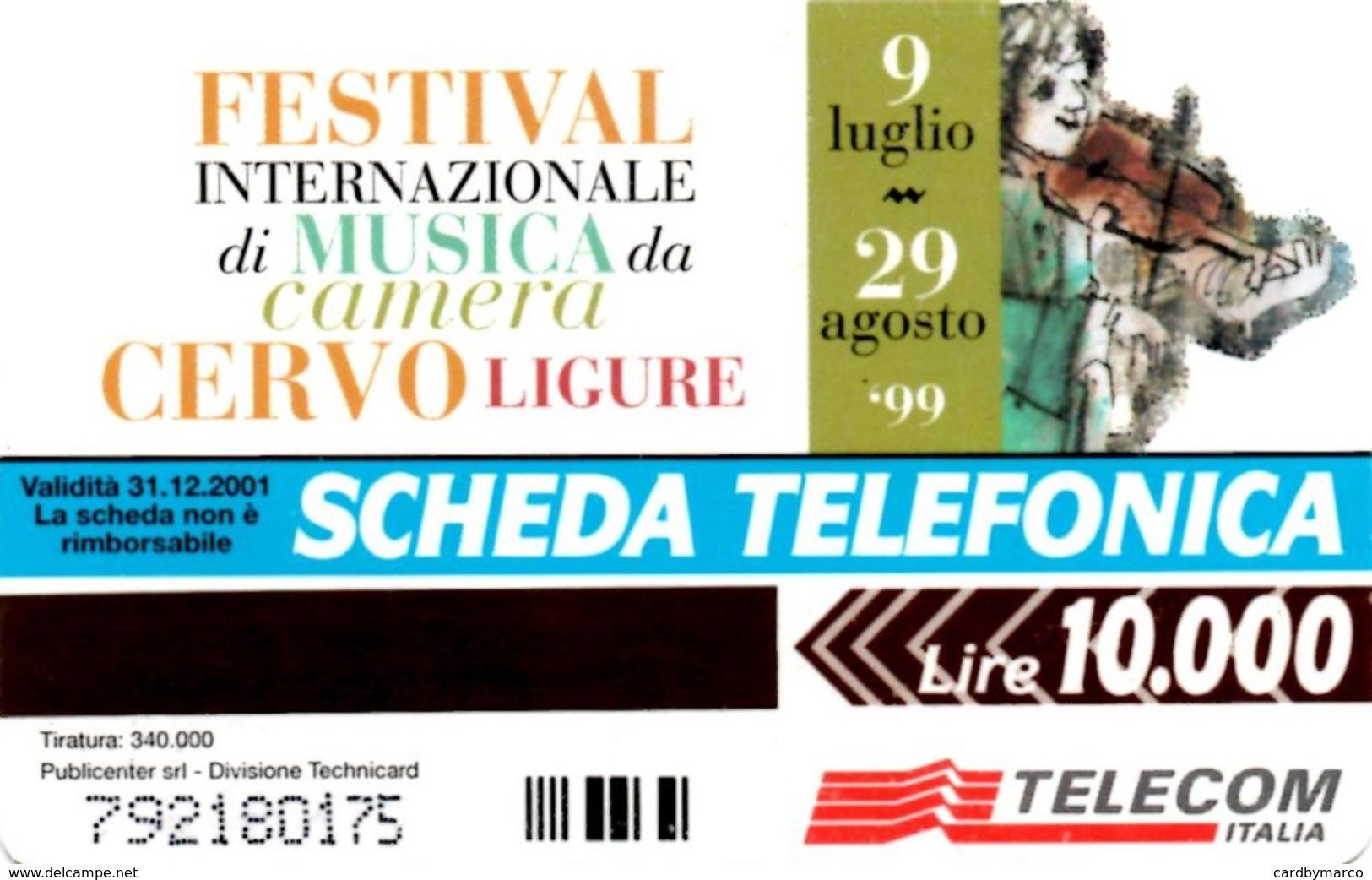 *ITALIA: FESTIVAL DELLA MUSICA DA CAMERA* - Scheda Usata (variante 1054A) - Fouten & Varianten