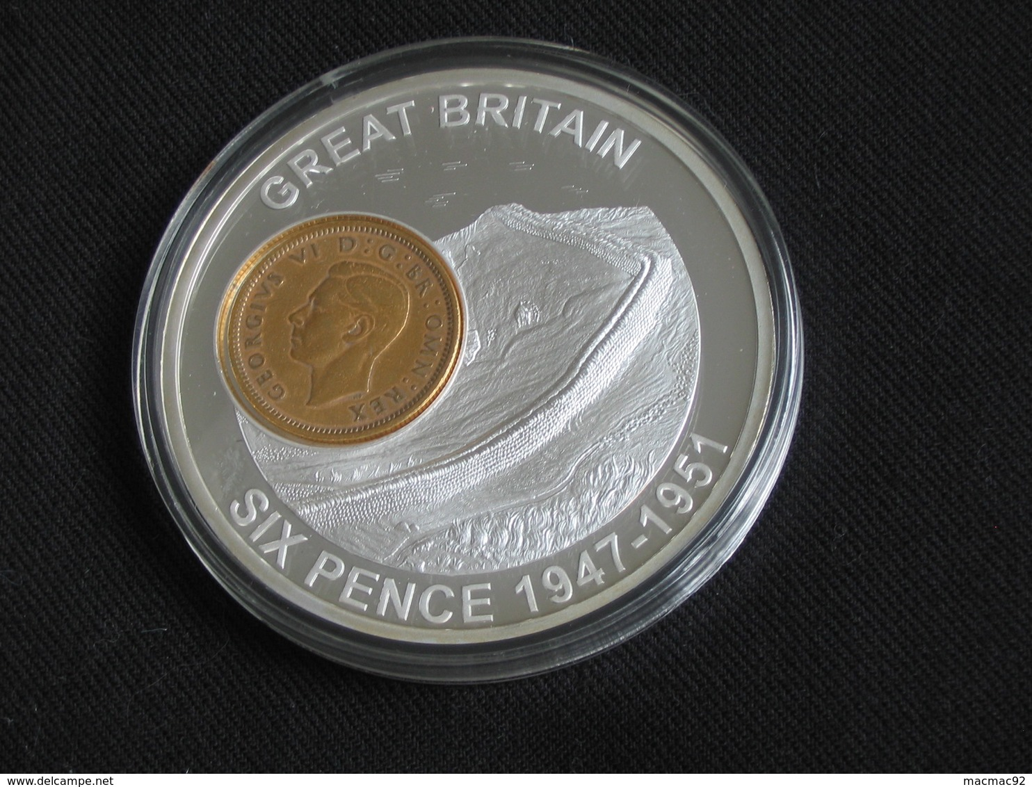 MAGNIFIQUE Médaille History Of British Currency - TWO SHILLINGS 1947-1951  - Great Britain  **** EN ACHAT IMMEDIAT **** - Monetary/Of Necessity