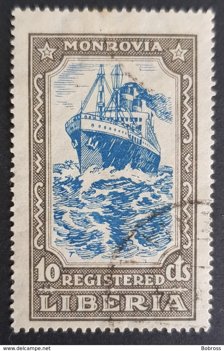 1924, Ships, Republic Liberia, *,**, Or Used - Liberia