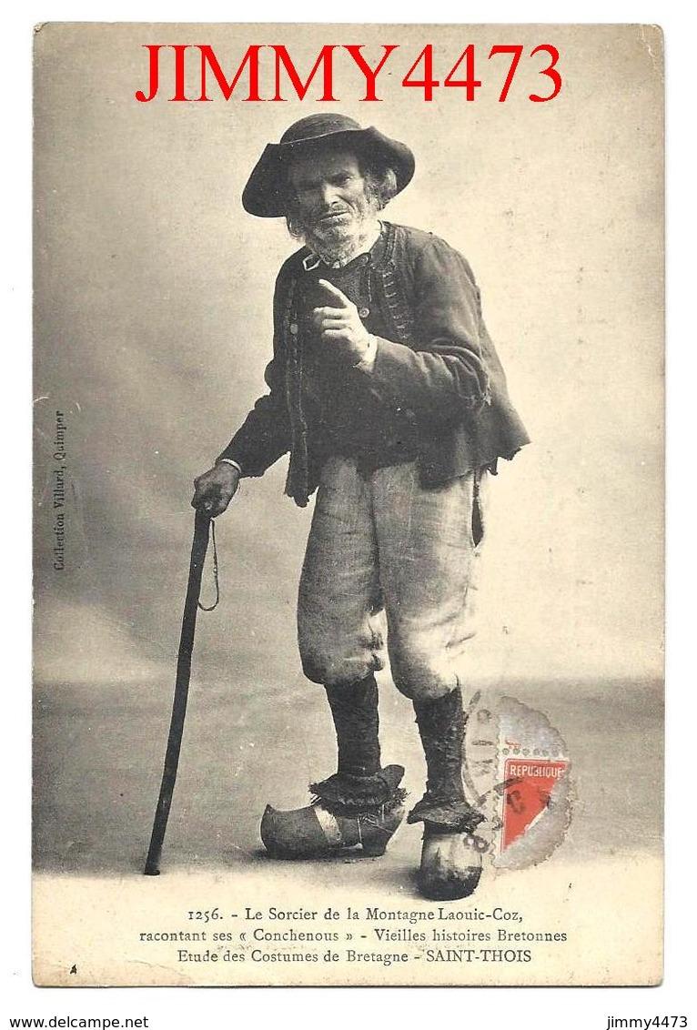 CPA - Le Sorcier De La Montagne Laouic Coz - Etudes De Costumes En 1924 - SAINT THOIS ( Arr. De Châteaulin ) N° 1256 - Costumes