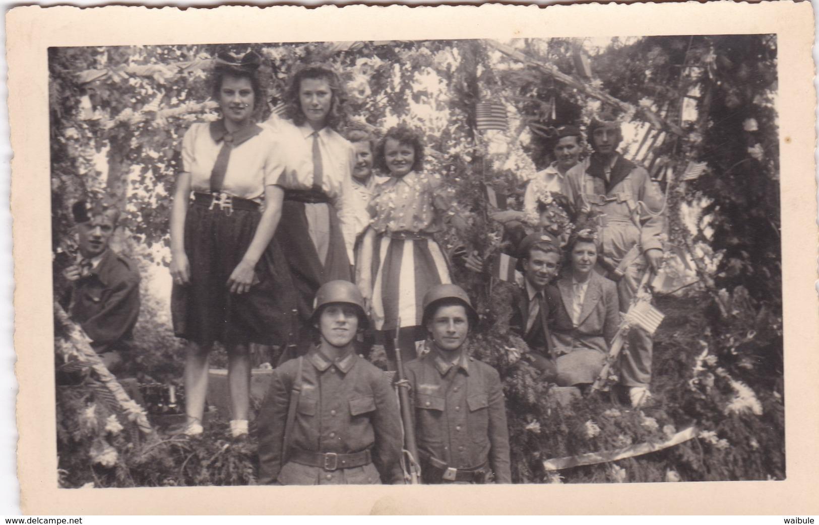 Guerre 1940 1945 Libération (dans Un Lot Provenant De Bastogne) Photo Carte - Sonstige