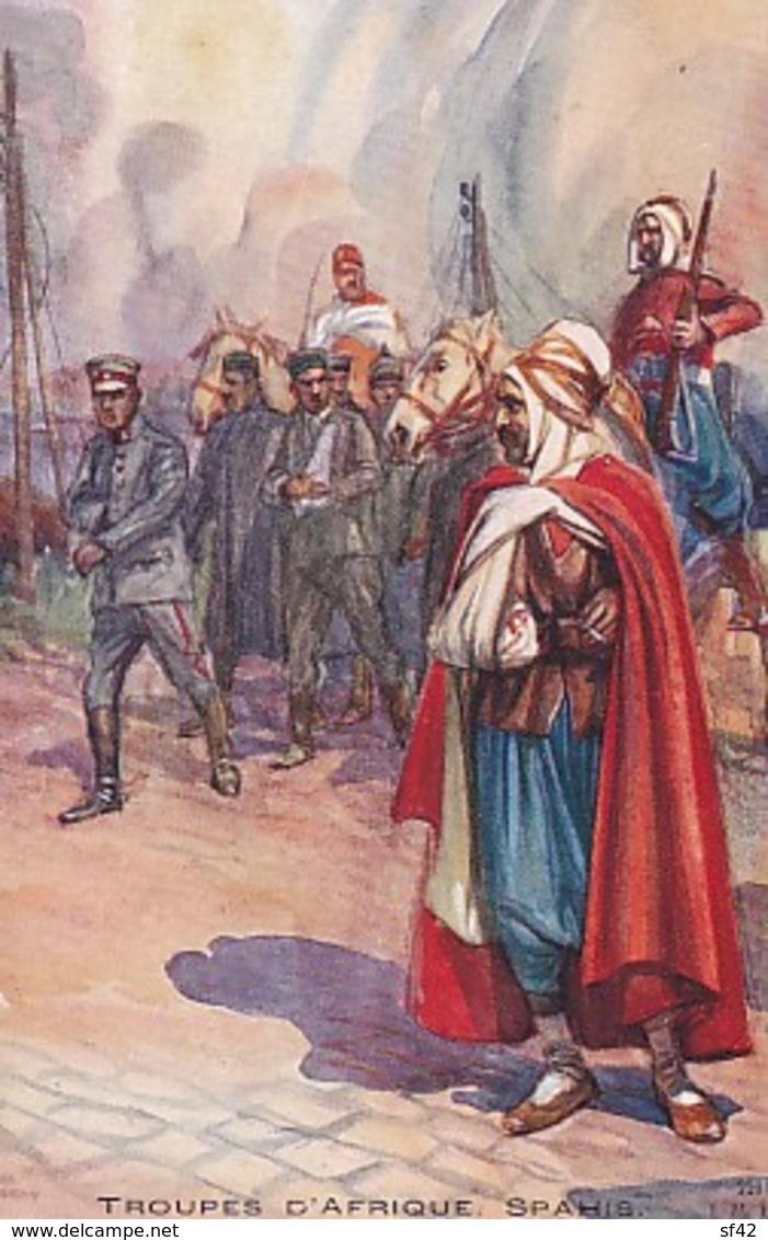 TROUPES  D AFRIQUE.  SPAHIS       CHARLES FOUQUERAY - Patriottiche