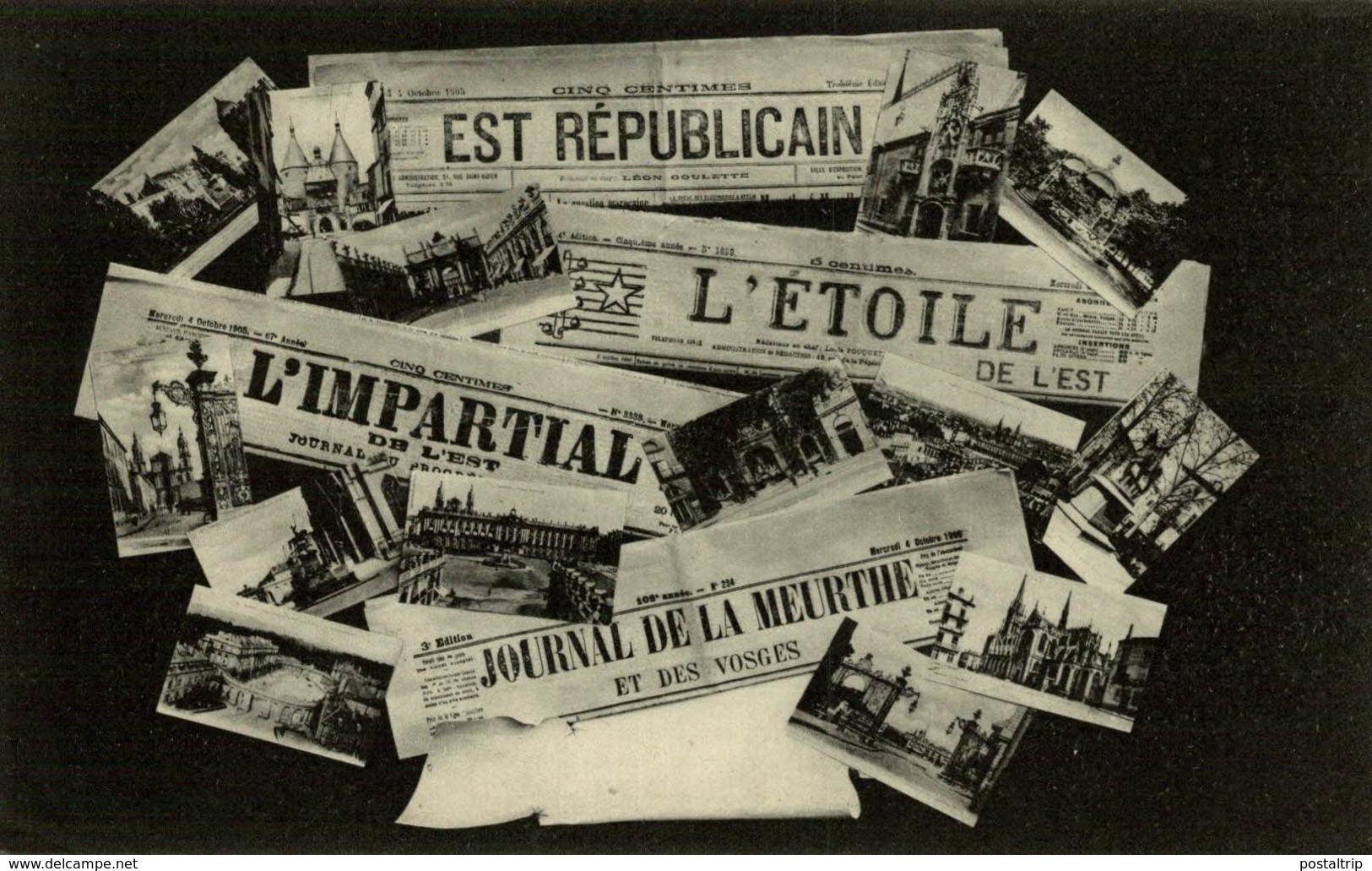 EST REPUBLICAIN L'ETOILE L'IMPARTIAL   JOURNAUX JOURNAL NEWSPAPERS  KRANT PERIODICO - Tarjetas De Fantasía