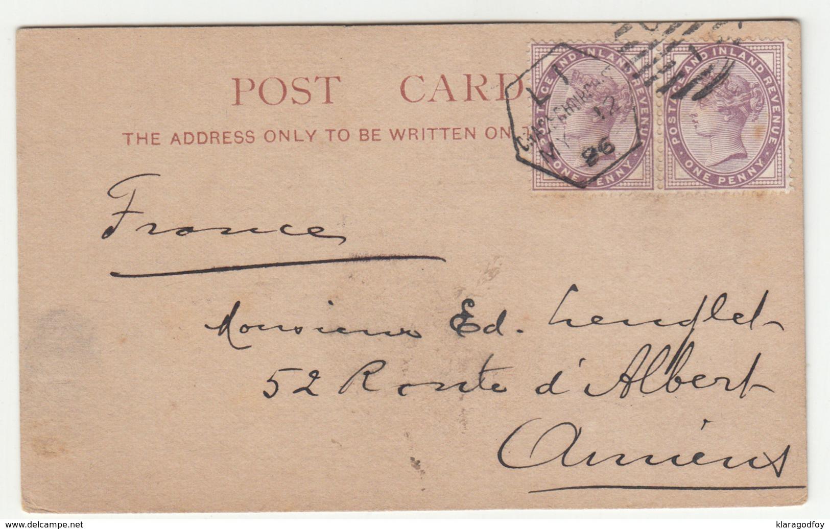 T.M. Duché & Sons, London Postcard Travelled 1896 B190401 - 1840-1901 (Victoria)