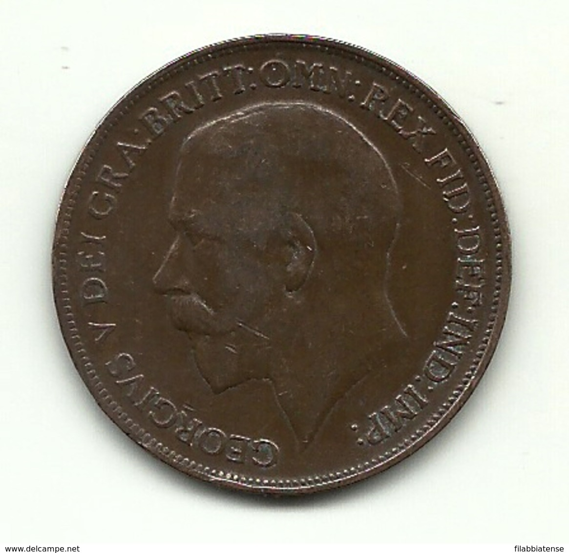1915 - Gran Bretagna 1 Penny - 1902-1971 : Monete Post-Vittoriane