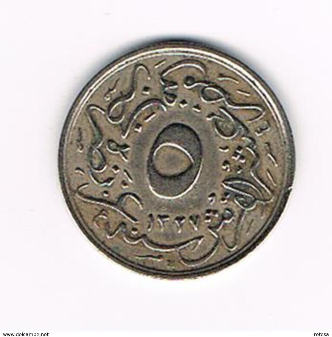 //  EGYPTE  5/10 QIRSH  1908 ( 1327 ) - Egypte