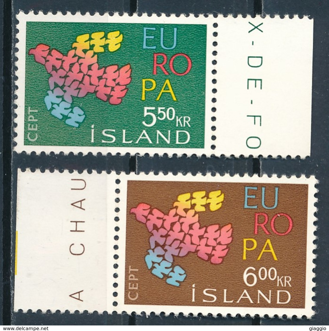 °°° ISLAND - Y&T N°311/12 - 1961 MNH °°° - Neufs